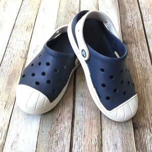 Crocs Two Tone Blue And White